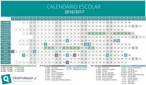Calendário escolar 2016/2017 – para descarregar